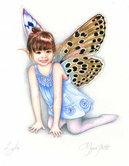 Myrea Pettit loves to paint Flowers Fairies and Butterflies and Lyla © Myrea Pettit